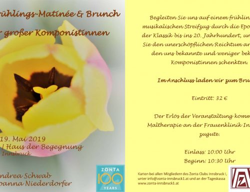 Frühlings-Matinée & Brunch am 19.5.2019