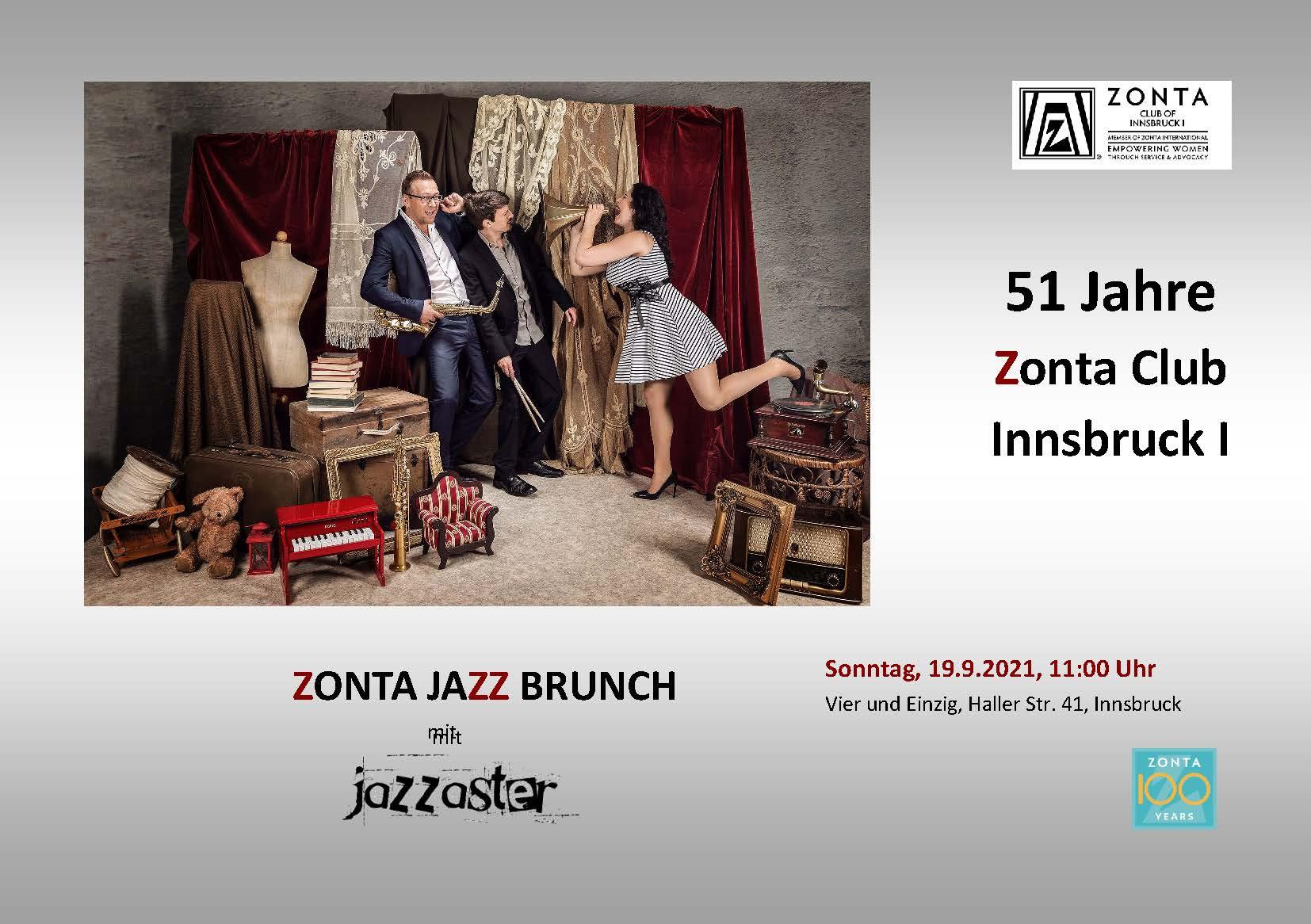 Zonta Jazzbrunch zum 50./51. Clubgeburtstag
